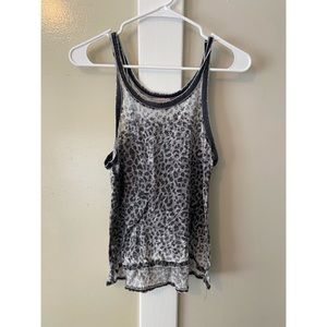 Black and white chaser tank
